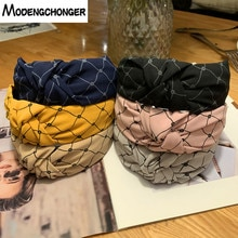 For Women Girls Hairband Turban Striped Cross Elastic Hair Band  No Slip Headband Knot Hair Bezel New Arrival Hair Accessories