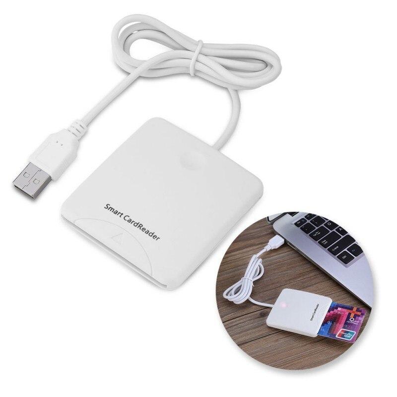 Lector de tarjetas de crédito IC con Chip inteligente USB portátil, codificador escritor con ranura SIM para Windows 2000 XP o Mac OS X Linux