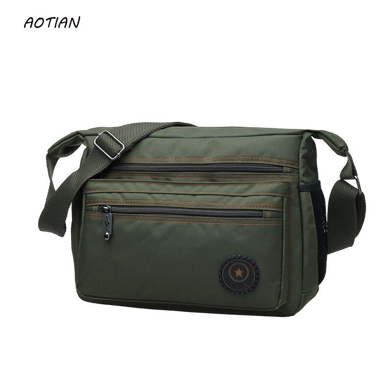 ¡OFERTA 2020! bolso de mensajero para hombre, bolso de hombro masculino de viaje de alta calidad, diseño clásico, bolsos de nailon para hombre a prueba de agua