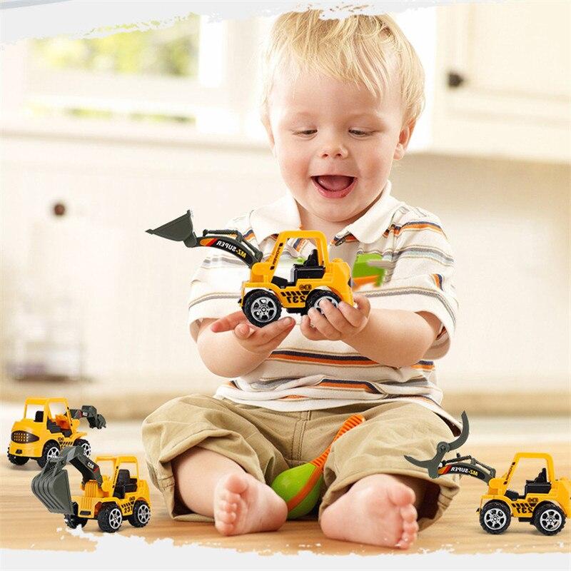 Mini juguetes de regalo de plástico fundido a presión para niños, juguetes de construcción para vehículos de ingeniería, modelos de excavadora, Juguetes