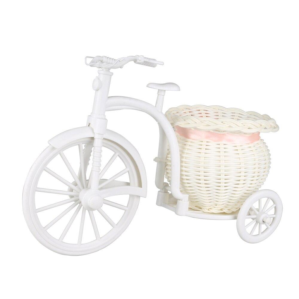 Vaso 1 pçs rattan bicicleta flores cesta planta vaso recipiente pote de armazenamento de mesa decorações de natal do casamento decoração para casa
