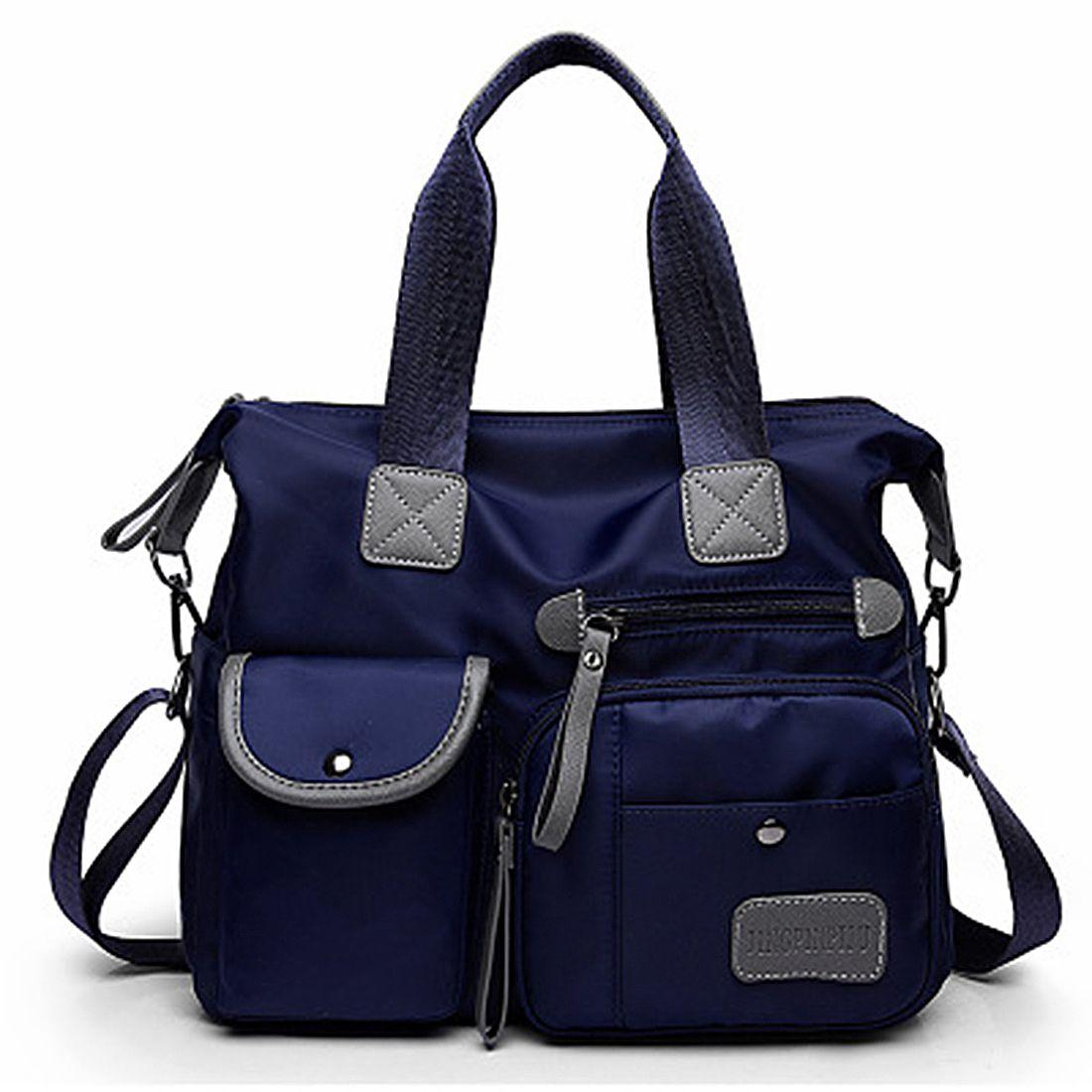 Новая женская модная водонепроницаемая сумка-тоут из ткани Оксфорд, Повседневная нейлоновая сумка на плечо, сумка для мам, вместительная Холщовая Сумка