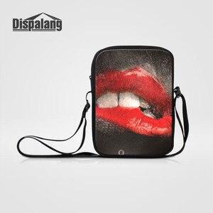 Dispalang Red Sexy Lips Women Shoulder Bag Brand Fshion Casual Kids Messenger Bags Ladies Girls Crossbody Bag Baby Bookbag