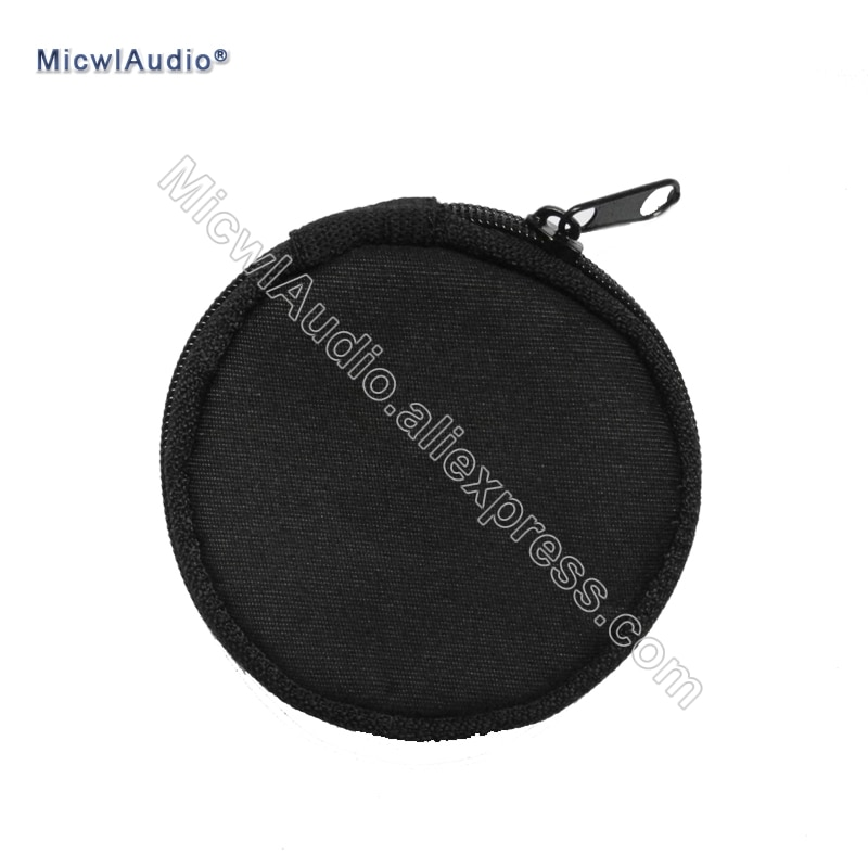 Small Bag for the Earphone Circle Easy to Carry Zippered Bag