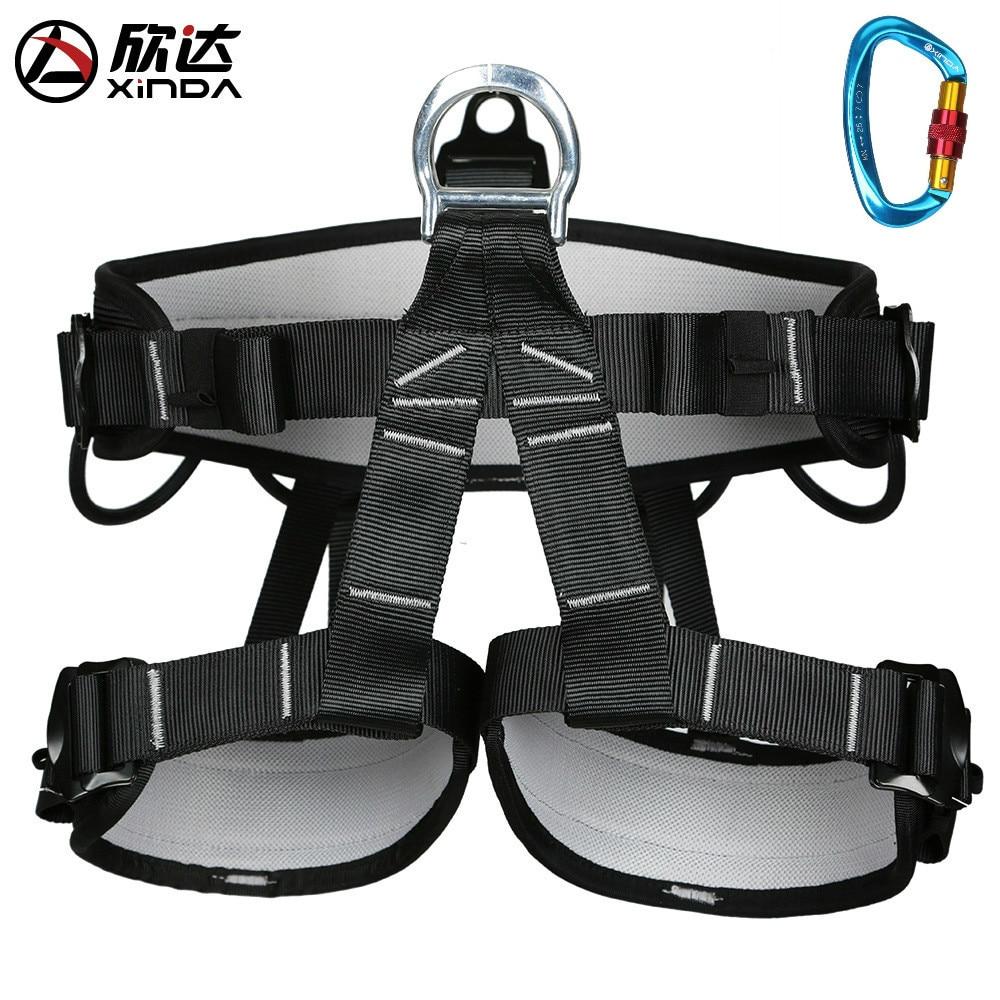XINDA-حزام الأمان للرجال والنساء ، معدات التخييم في الهواء الطلق ، التنزه ، تسلق الصخور ، نصف العناية بالبشرة