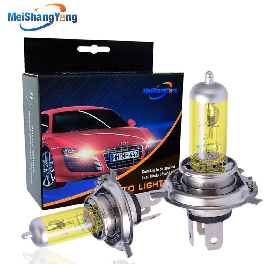 2 шт., галогенная лампа H4 55 Вт, автомобильный светильник, источник высокой мощности, кварцевое стекло, автомобильная фара для вождения, авто, ...