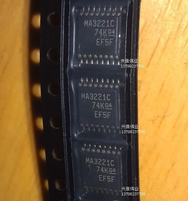 10 Uds nuevo MAX3221CPWR MA3221C pantalla TSSOP-16 RS-232 transceptor controladores de línea