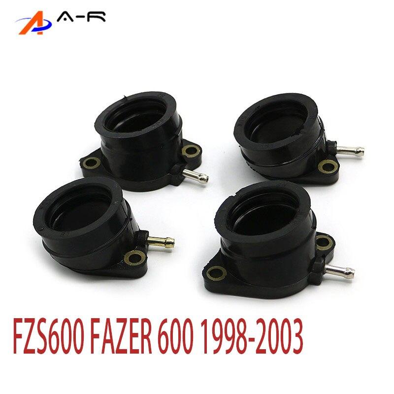 4 stück Motorrad Vergaser Carburateur Intake Manifold Joint Boot 5DM-13586-01 Für Yamaha FZS600 FAZER FZS 600 1998-2003