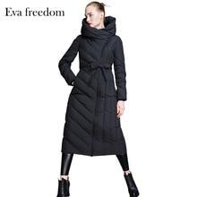 Marque 2018 veste dhiver femmes doudoune Europe femmes duvet de canard vestes moralité femmes doudoune longue survêtement parka