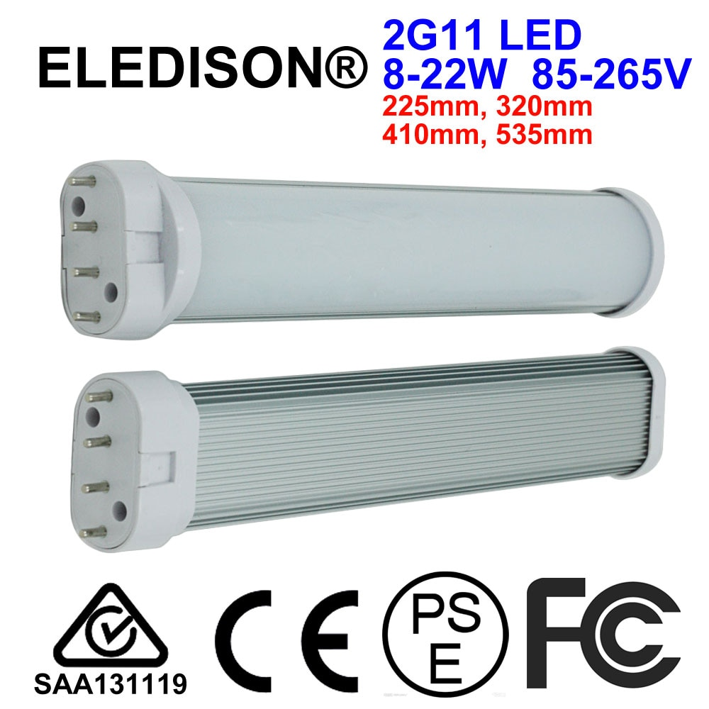 2G11 tubo de luz LED 8W 10W 12W 18W 20W montado luz de techo bombilla 225mm 320mm 410mm 535mm difusor lácteo LED de readaptación luz descendente