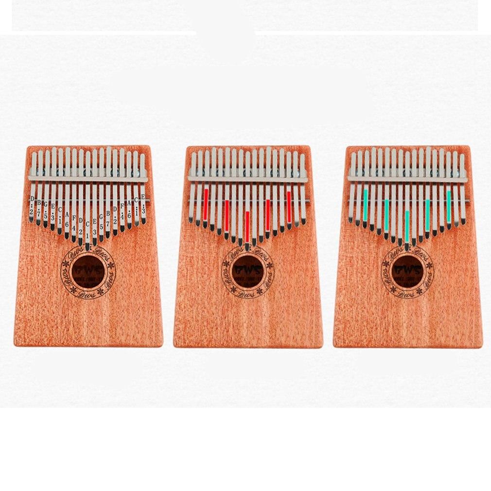 17 teclas Kalimba caoba pulgar Piano madera maciza pulgar Piano dedo Mini teclado instrumento portátil para principiantes