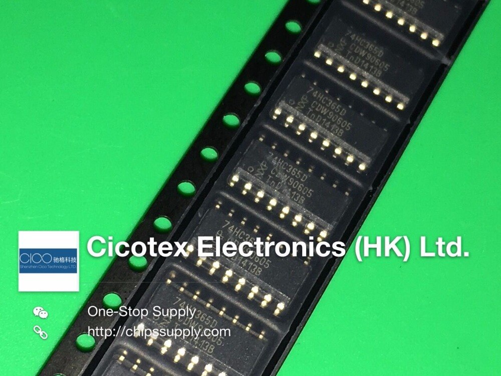 10 шт./лот 74HC365D SOP16 74HC 365D IC BUFF DVR TRI-ST HEX 16SOIC 74HC365D,653