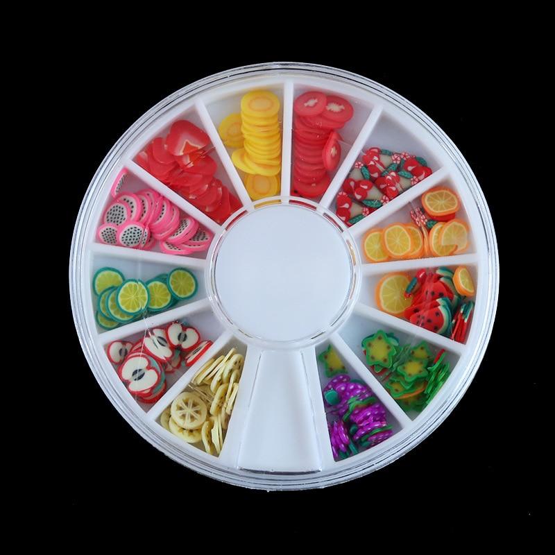 Rodajas de frutas, decoración artística de uñas, rodajas de arcilla polimérica, decoraciones de Fruta de resina uv, decoración artística de uñas 3D, relleno de resina, fruta