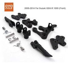Repose-pieds de conducteur avant pour Suzuki   GSXR1000 2005 2006 2007 2008 2009 2010 2011 2012 1000 repose-pieds de support GSXR