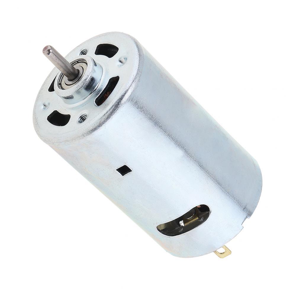 محرك محمل كروي متين ، 12-36 فولت ، 555 تيار مستمر ، سرعة عالية ، عزم دوران كبير لسيارة طراز DIY/آلة صغيرة للثقب الصغير
