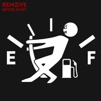 fuel tank cap cover high gas consumption decal fuel gage empty vinyl funny 3d car stickers scratch paste sticker