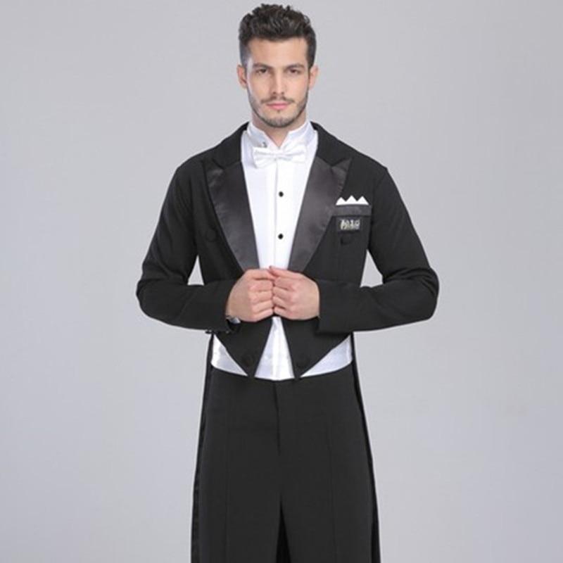 2017 New men's tuxedo swimsuit dress smoking masculino standard dance men suit black two pieces mens wedding suits jacket+pants