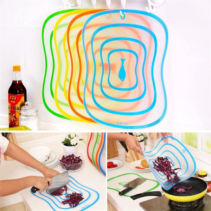4 pièces en plastique à découper givré planche à découper cuisine planche à découper légumes viande outils cuisine accessoires Gadgets de cuisine. J