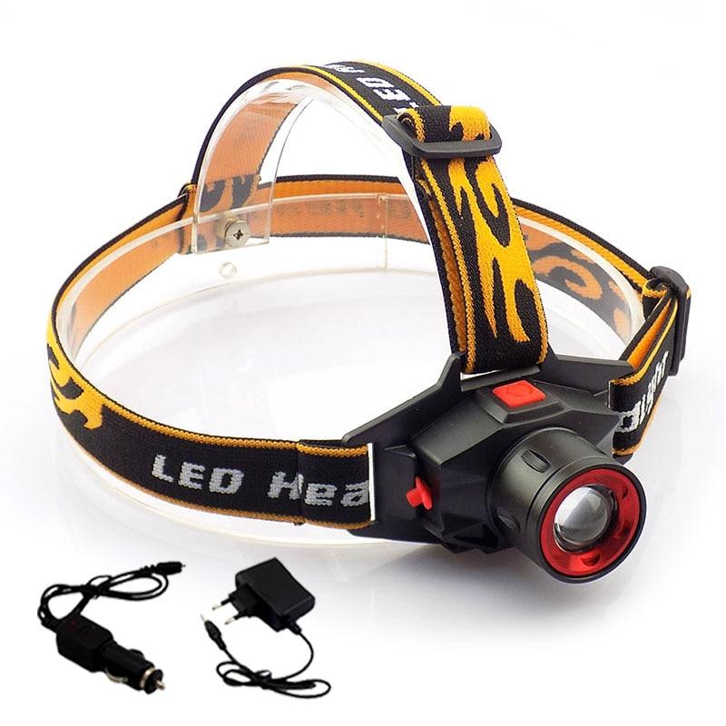 Перезаряжаемый Q5 светодиодный налобный фонарь, масштабируемый Регулируемый налобный фонарь высокой мощности, фонарик для кемпинга, походо...