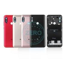 Original For Xiaomi Redmi 6 Pro Back Battery Cover Metal + Sim Card Tray Rear Housing Mi A2 Lite Battery Door Case Spare Parts