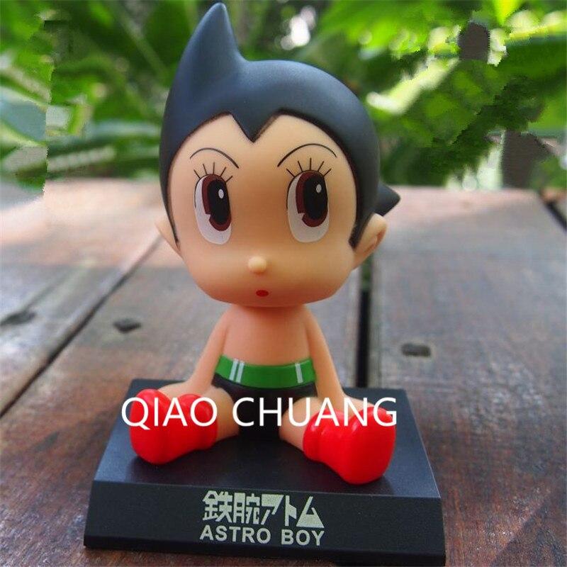 10 CENTÍMETROS Anime Tetsuwan Atom Astroboy Carro Balançando a Cabeça Da Boneca Artigos de Mobiliário PVC Action Figure Toy Model Collection G506