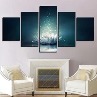 Toile de peinture  imprimes artistiques muraux   5 panneaux  belle fleur a la mode  decoration de maison  images modulaires pour salon