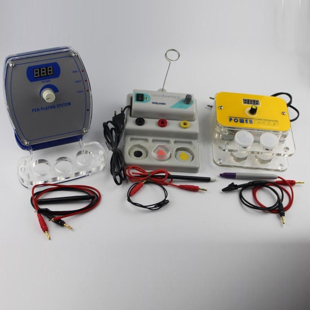 Nueva máquina de Enchapado de joyería de pluma 110/220 V herramienta de sistema de chapado de joyería de plata de oro