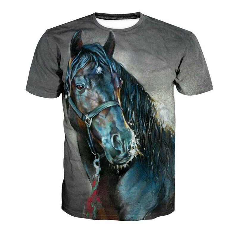 Harajuk, Camiseta para hombre, Camiseta de caballo 3D, ropa de marca para hombre, Camiseta de Hip Hop, Camiseta, tamaño superdivertido, 4XL, 5XL, 6XL, 7XL