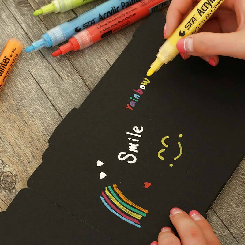 14 цветов/набор, Профессиональный акриловый маркер для розилена, художник искусство, Перманентная маркировочная ручка, сделай сам, краски на...