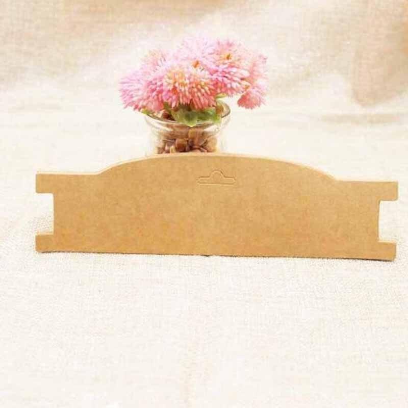 21*5,90 cm 100 Uds 2018 nuevo papel kraft cartón cinta elástica tarjeta etiqueta para mostrar cinta para el pelo tarjeta con logotipo personalizado costo extra