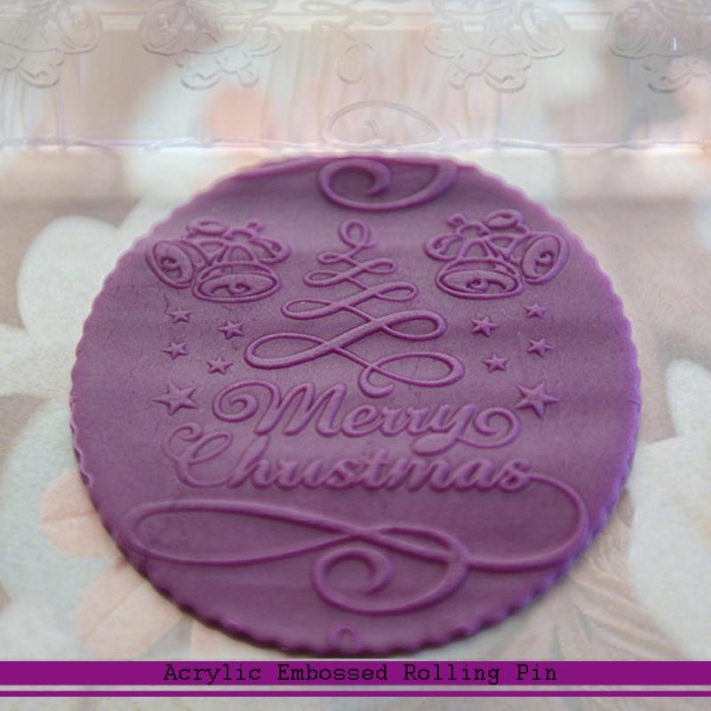 Outils de décoration de gâteaux sucre   Fondant, artisanat du sucre, 3D gaufrage du rouleau de noël 2019