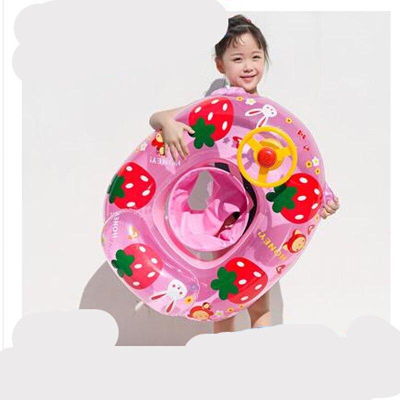 Piscina e acessórios do bebê criança menino menina assento float círculo piscina inflável dos desenhos animados 0-1-3-5 anos de idade