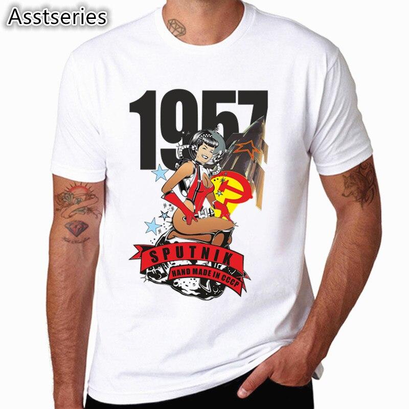 Футболка с принтом Гагарина, новый дизайн, летняя мужская футболка с круглым вырезом, крутая мужская одежда с коротким рукавом, CCCP