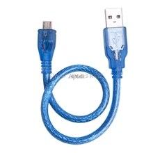 Alta Velocidad USB corto 2,0 A macho A B macho Micro 5 Pin datos 28/24AWG Cable 30cm Z09 Drop ship