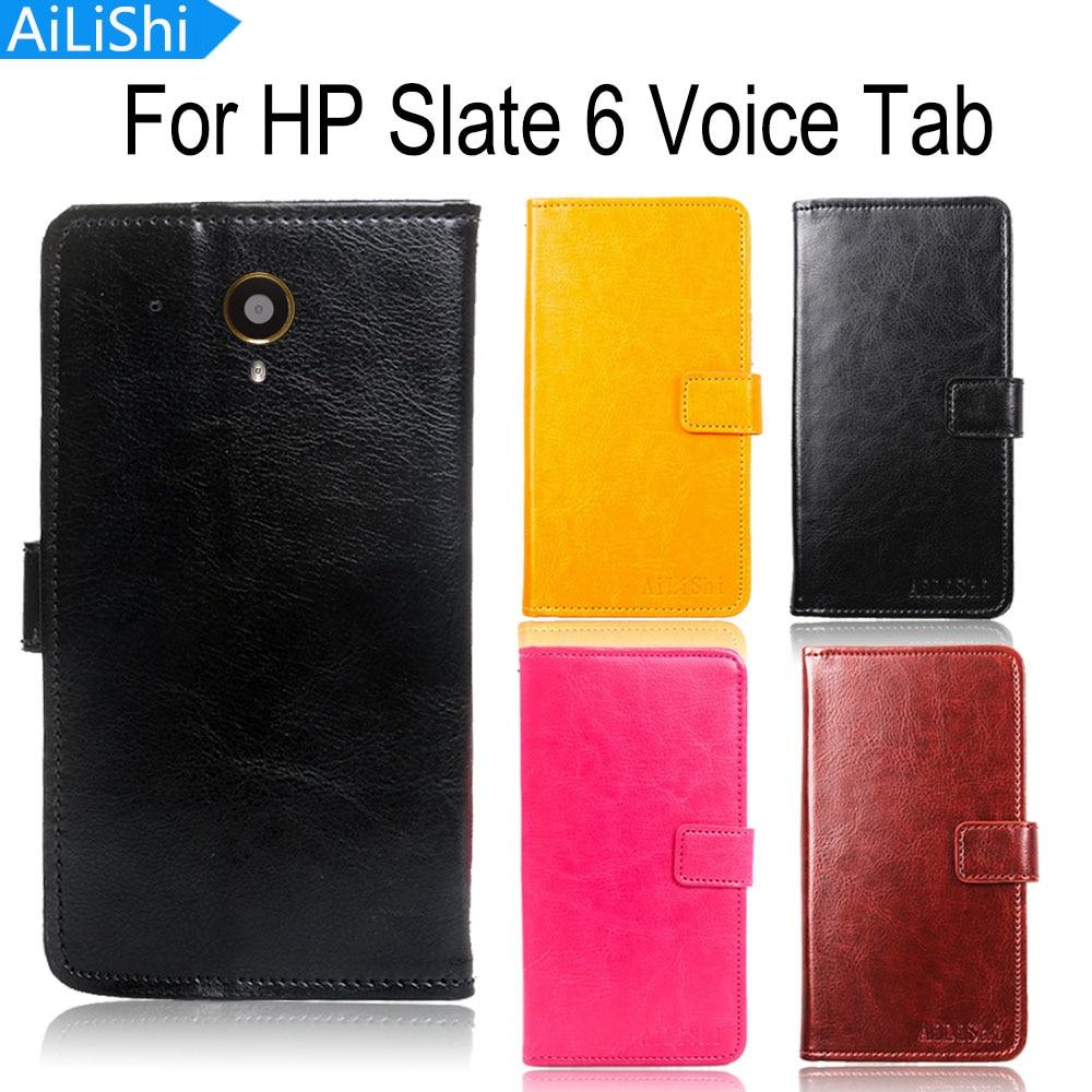Funda de cuero tipo libro AiLiShi para HP Slate 6 Voice Tab, funda de lujo estilo libro, funda para teléfono, cartera con ranura para tarjetas