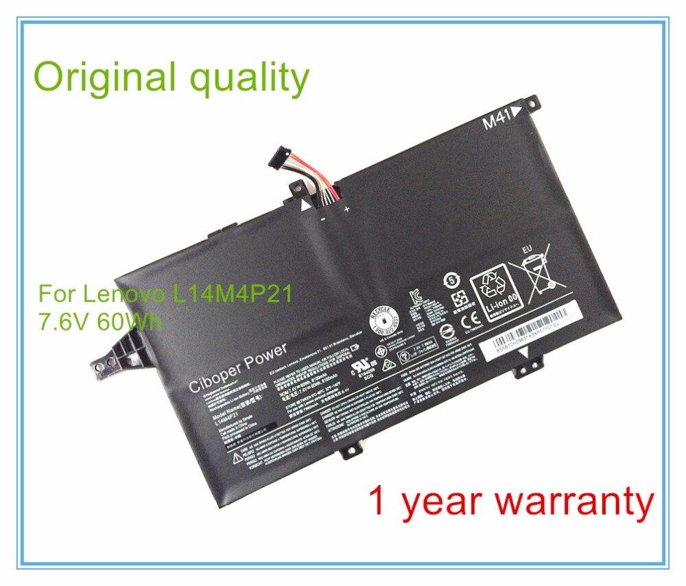 L14M4P21 7,4 V 60WH 8100mAh de la batería Original L14M4P21 para K41-70 K4170 M41-70 5B10H09633