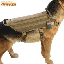 Excelente ELITE SPANKER táctico perro entrenamiento chaleco Molle arnés caza perro ropa nailon militar Chaleco de entrenamiento
