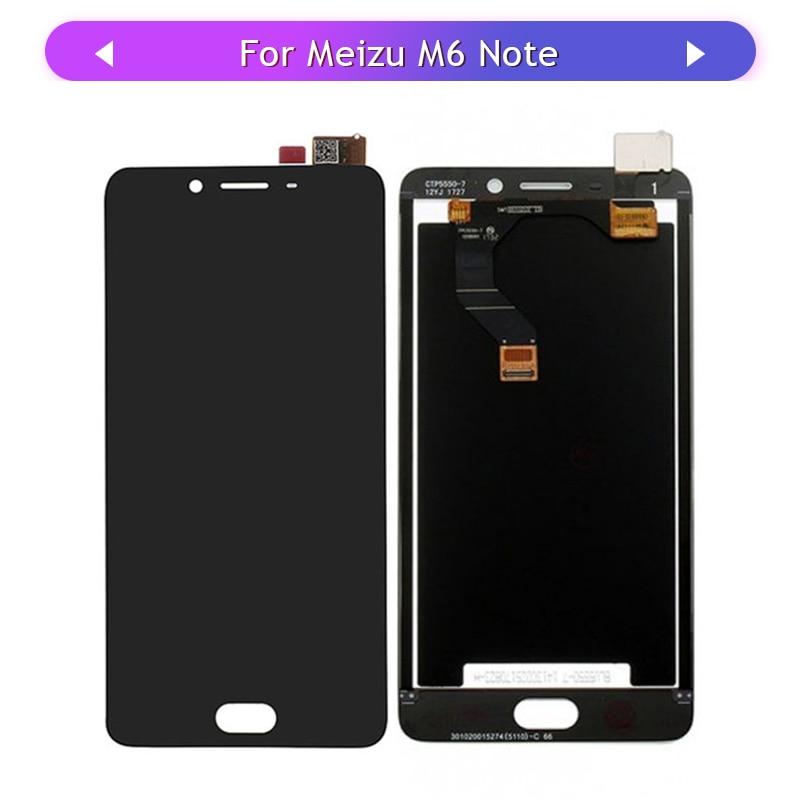 Táctil para Meizu M6 note Meilan Note 6 M721L pantalla LCD MONTAJE DE PANTALLA TÁCTIL Panel de cristal digitalizador Sensor táctil reemplazo
