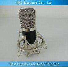 Excelente Dinâmica de processamento de áudio Kit KTV Karaoke Condensador Sound Studio de Gravação Com Fios de Microfone Mic com Choque Monte