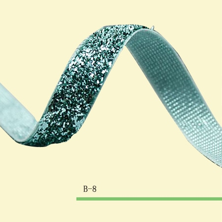 """(Precio negociado) 3/8 metálico cinta elástica de terciopelo """"cinta de terciopelo verde elástico brillante"""