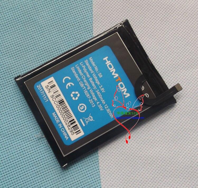 Batería Original S8 nueva 5,7 pulgadas Homtom S8 batería de teléfono móvil 3400mAh