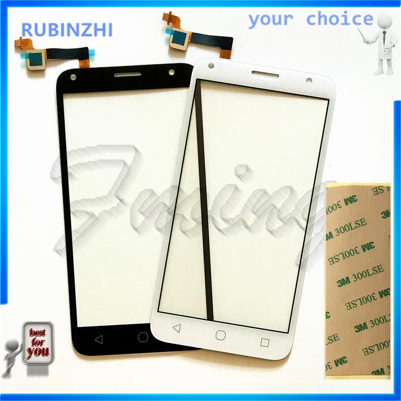 Teléfono RUBINZHI para Alcatel One Touch PIXI 4 5,0 OT 5010 OT5010 5010D 5010E 5010G OT-5010 cristal digitalizador con Sensor de pantalla táctil