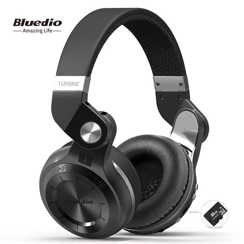 Bluedio T2plus (Shooting Brake) Bluetooth stereo headphones wireless headphones Bluetooth 5.0 headset over the Ear headphones