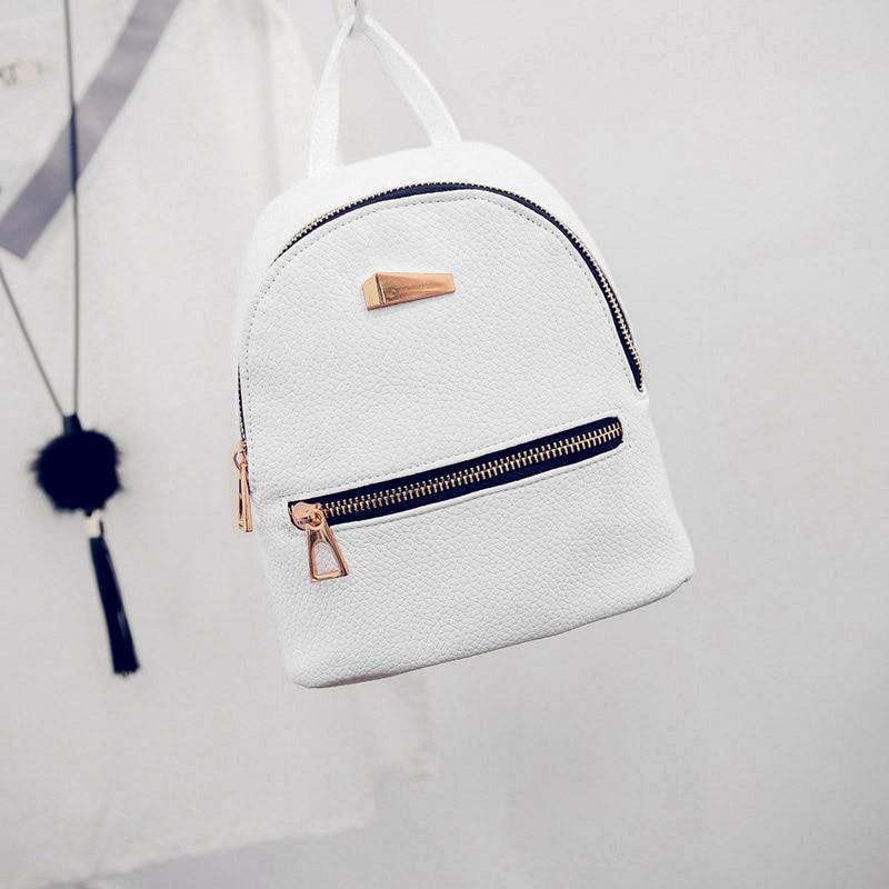 Fashion Fashion Women Mini Backpack PU Leather College Shoulder Satchel School Rucksack Ladies Girls Casual Travel Bag HSJ88