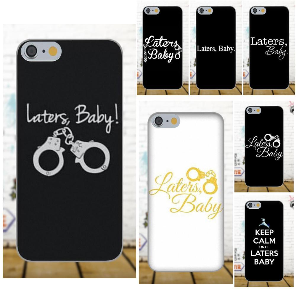 Hasta luego bebé Cincuenta sombras de Grey para Apple iPhone 4 4S 5 5C 5S SE 6 6S 7 8 Plus X para LG G3 G4 G5 G6 K4 K7 K8 K10 V10 V20