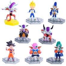 Anime 8CM 8pcs/set Dragon Ball Z Frieza Freeza 3 Forms Zarbon Dodoria Soldier Son Goku Vegeta  PVC Figure Toys Dolls Model