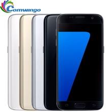 Smartphone dorigine débloqué Samsung Galaxy S7 4GB RAM 32GB ROM 5.1 12MP Quad Core NFC 4G LTE téléphone portable s7 téléphone Android