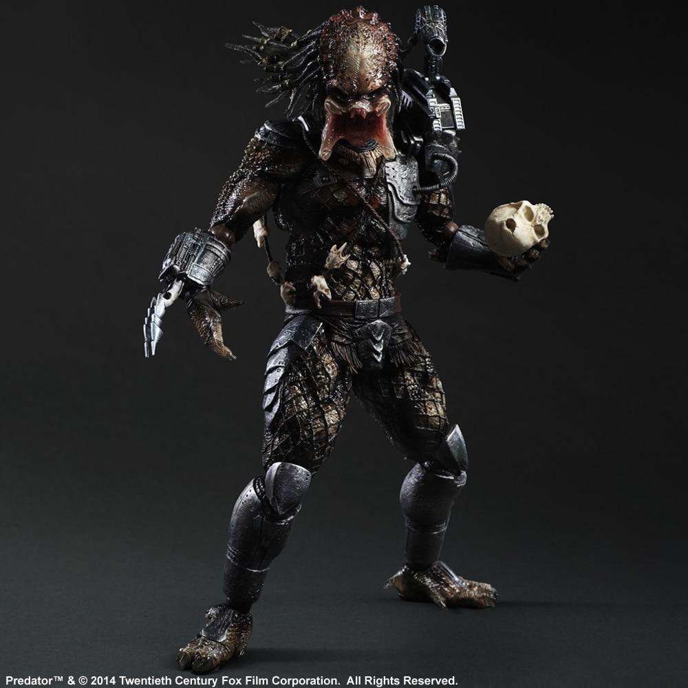 Huong Movie Figure 27 CM Alien Hunter Primevil Play Arts Kai Generation 2 Predator PVC Action Figure Collectible Toy Model
