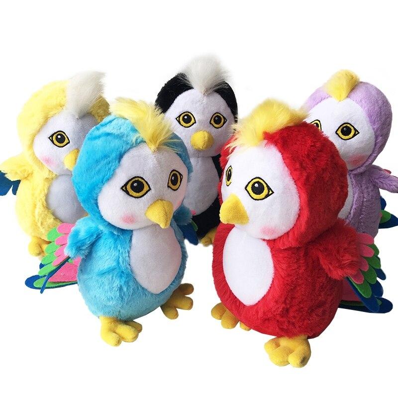 Simulation parrot doll cartoon parrot doll plush toy children doll doll birthday gift Creative Parrot Cartoon Toys