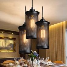 Vintage Mesh Cage Pendant Light Retro Loft Industrial Warehouse Hanging Lamp Dining Room Decoration Edison Home Lighting Fixture